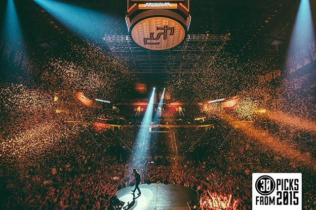 Day29: There was a LOT of confetti on this tour, but this shot of FSU landed itself as my favorite of the year. My brother graduated from this school in this very arena, making this photo extremely special to me! -Andy #Reel30