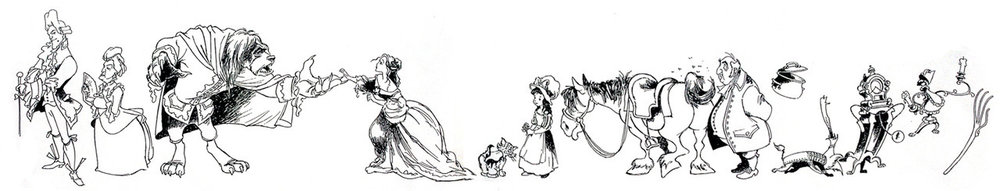 Original Concept Illustrations for Beauty and the Beast. Please don't sue me, Disney.