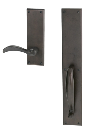 EN-1802D-H1-ENTRY GRIP MORTISE DUMMY SET WITH WASHINGTON LEVER