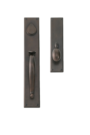 EN-1803-H10-ENTRY MORTISE GRIP SET WITH WILSON OVAL KNOB
