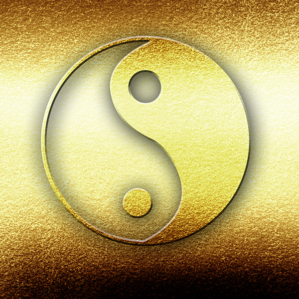 This Taiji symbol is the graphic depiction of Yin (black) and Yang (white), constantly in motion. Within Yin there is Yang and vice versa.