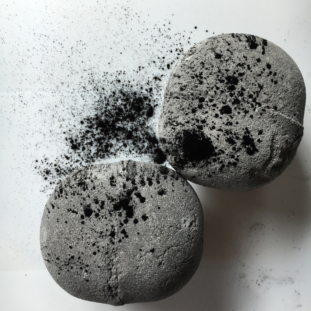Peppermint Charcoal Bath Bombs
