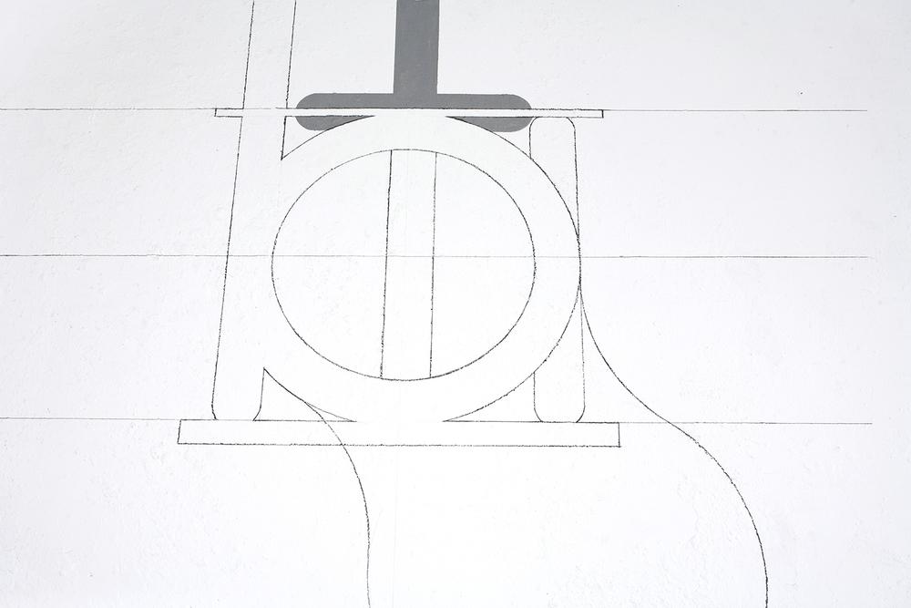 wall drawing, detail