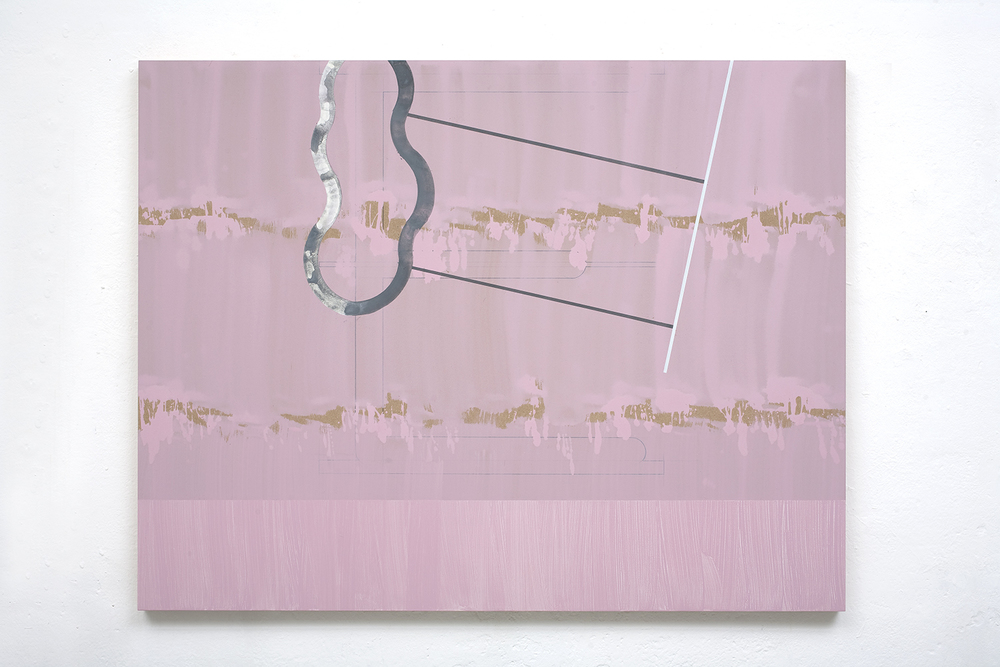 Sea Bait 3,  2010, 120 x 154 cm, acrylic, graphite on mdf