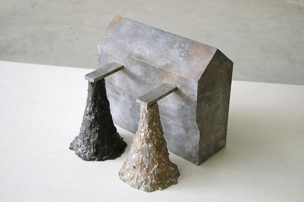 Source  (detail), 2007, 60 x 95 x 30,5 cm, bronze, wax, plasterboard, wood