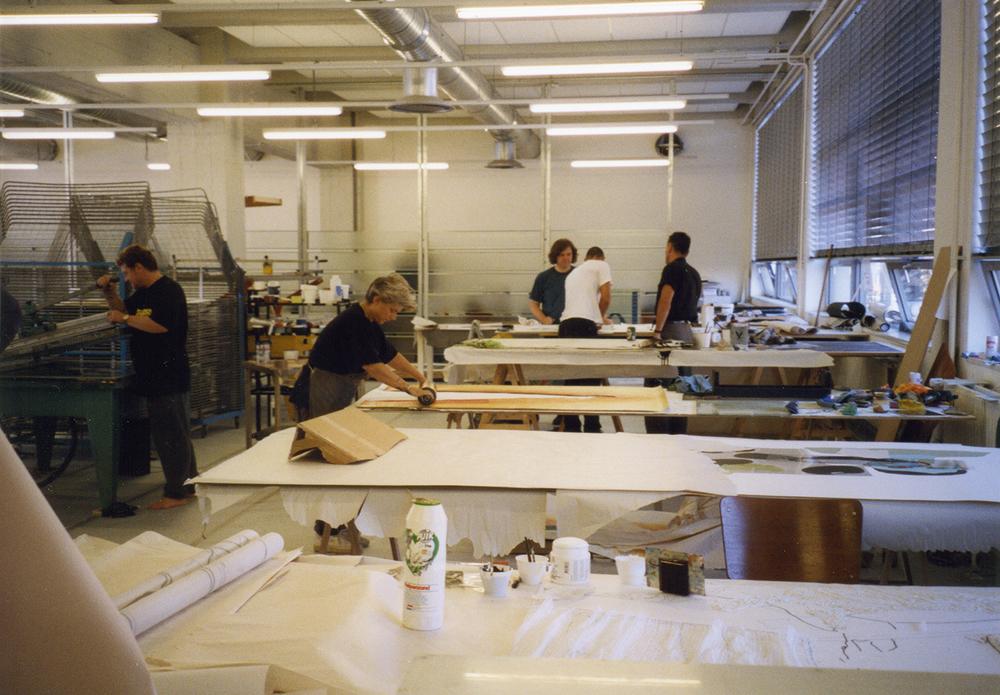 temporary workplace Grafisch Atelier Daglicht at Mu Art Foundation, Eindhoven