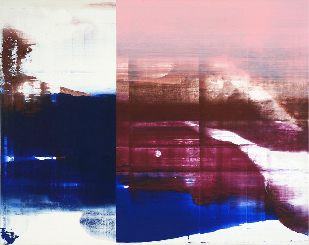 Hochwasser #2 , 2015, 32 x 40 cm, acrylic on mdf