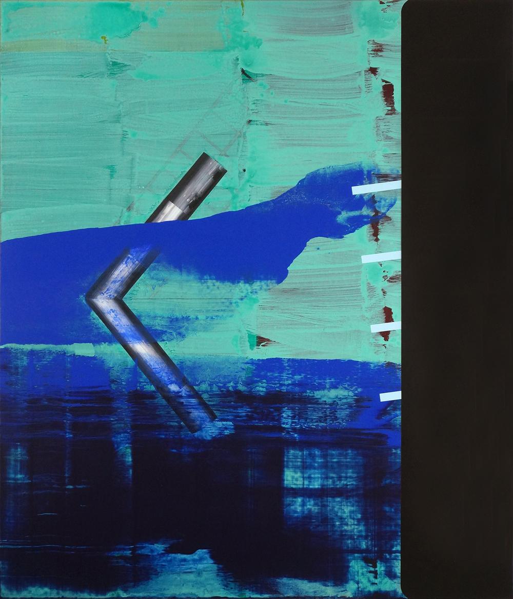 Schwarz zu Blau, 2015, 120 x 102,5 cm, acrylic on masonite