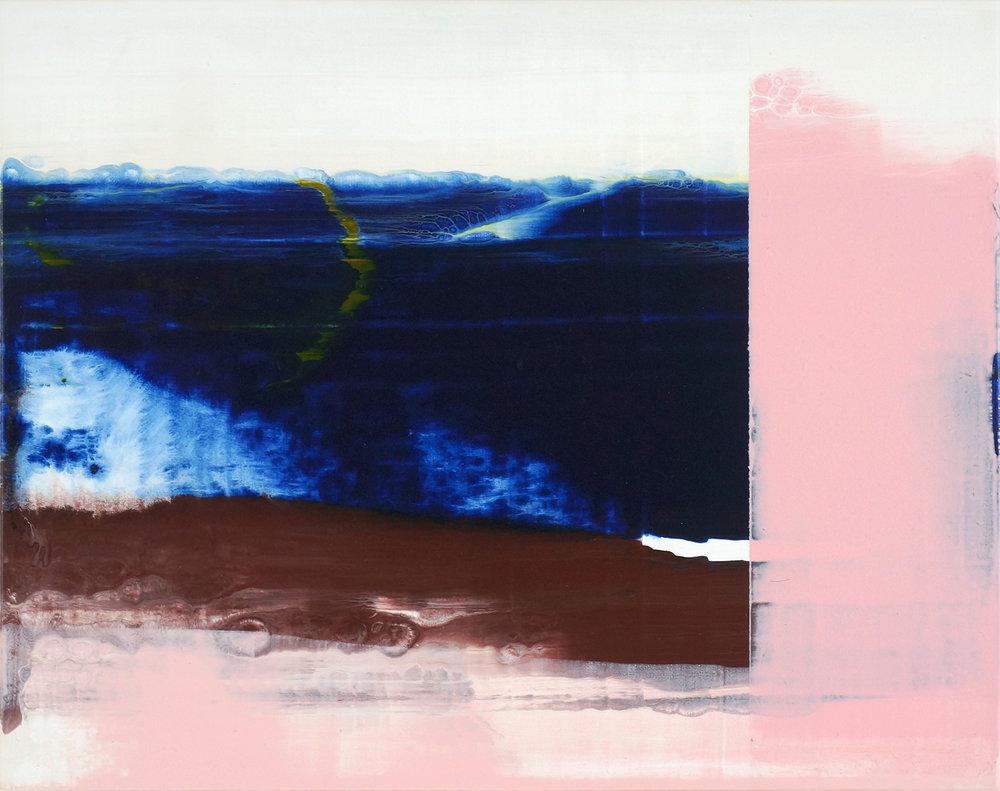 Hochwasser 4,  2015, 32 x 40 cm, acrylic on mdf