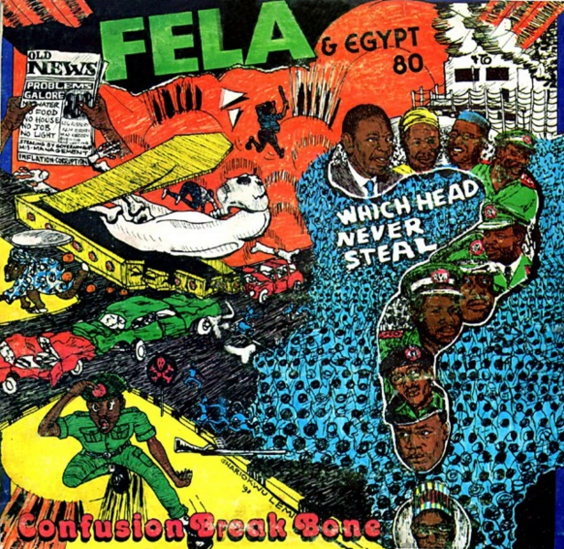 Lemi Ghariokwu sleeve design for Fela & Egypt 80.