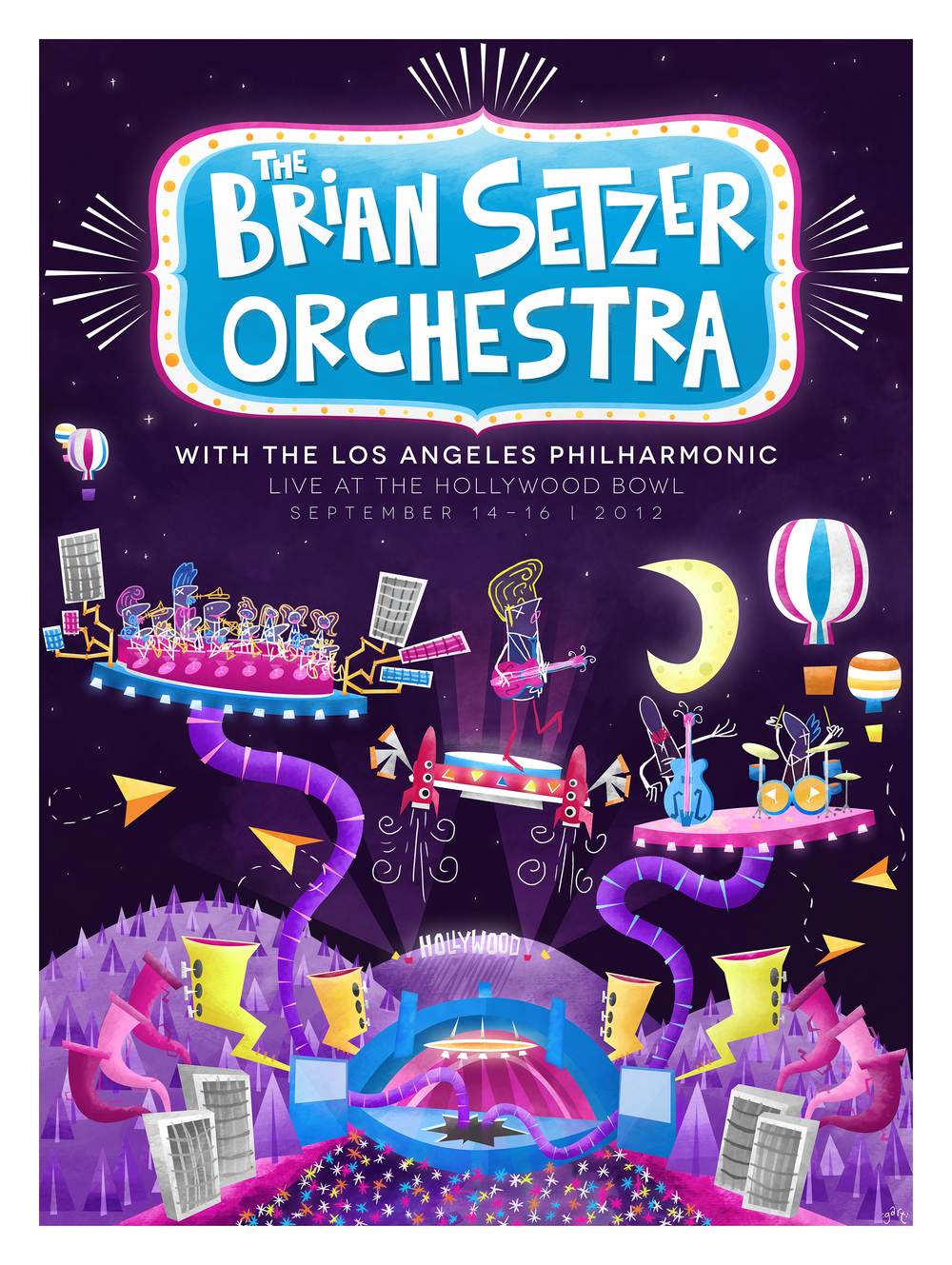 Brian Setzer Orchestra Live at The Hollywood Bowl
