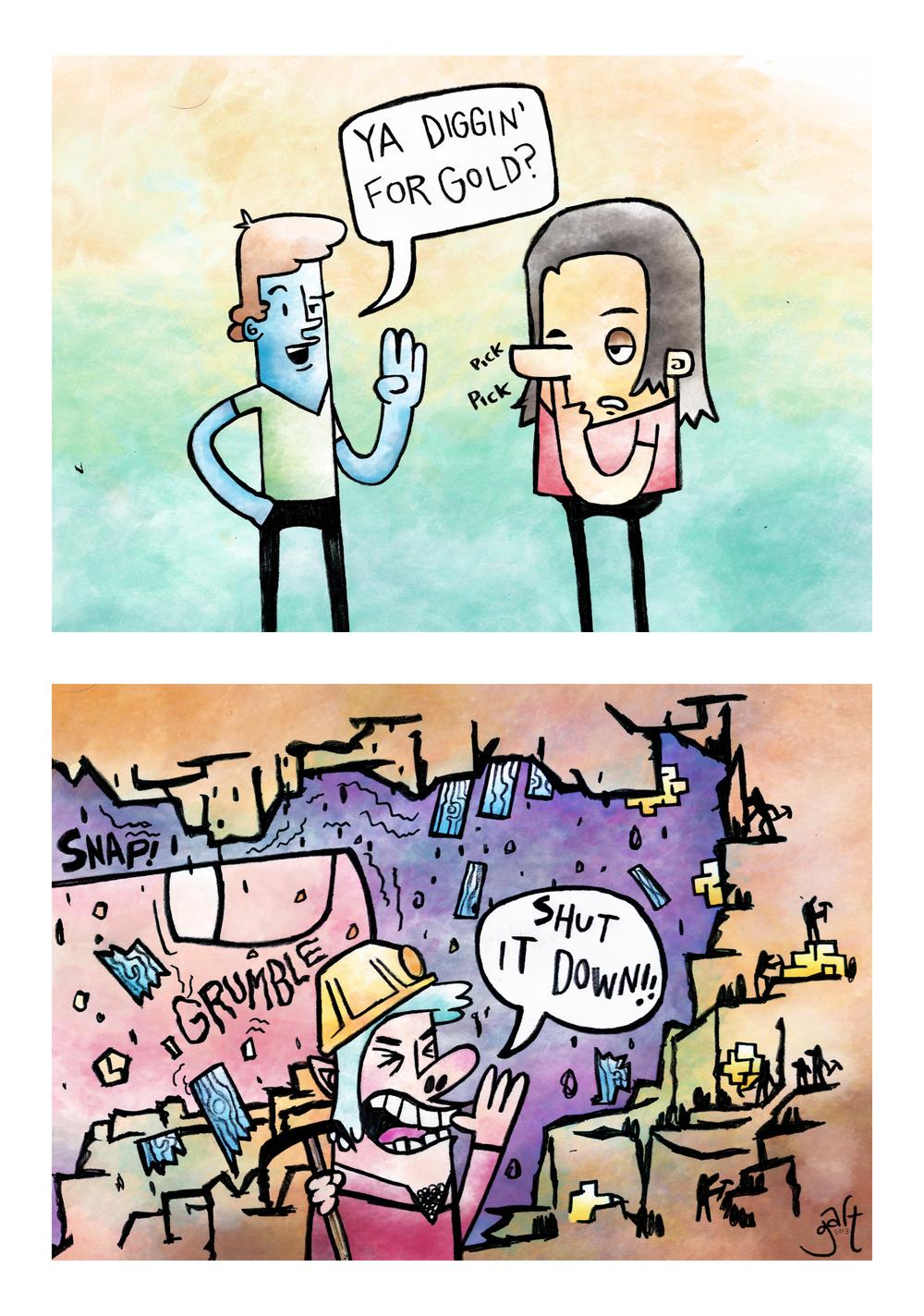 'Gold-Digger' - Comic