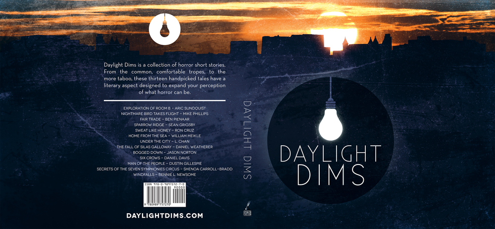 'Daylight Dims' - Book Cover Jacket