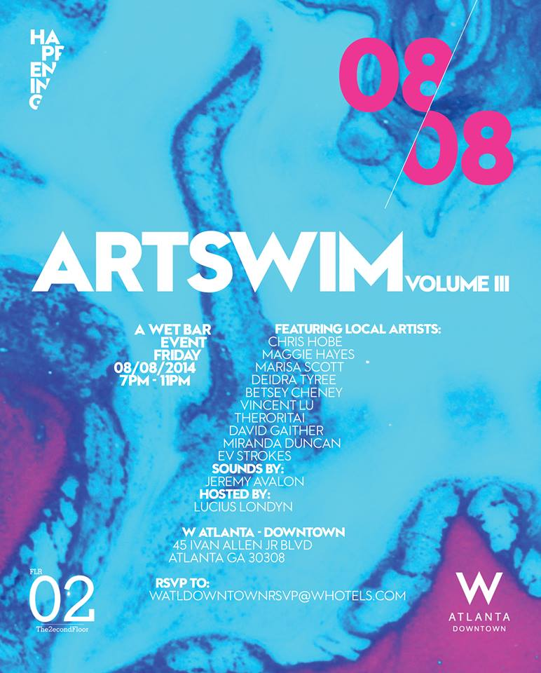 Come see me and my illustrated girls at Art Swim Vol.3 ! Friday August 8 at the W Hotel downtown. Hosted by Lucius Londyn, Sounds by: Jeremy Avalon. See the flyer for more details and RSVP to WATLdowntownRSVP@WHotels.c om