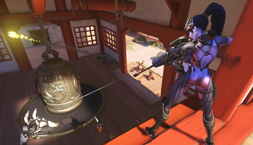 Pictured here: not me playing. You can tell because this Widowmaker actually killed folks.