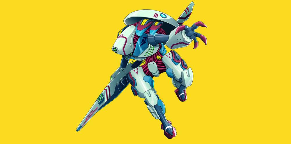 Year:2014 Anime Mechas design for Xbox.