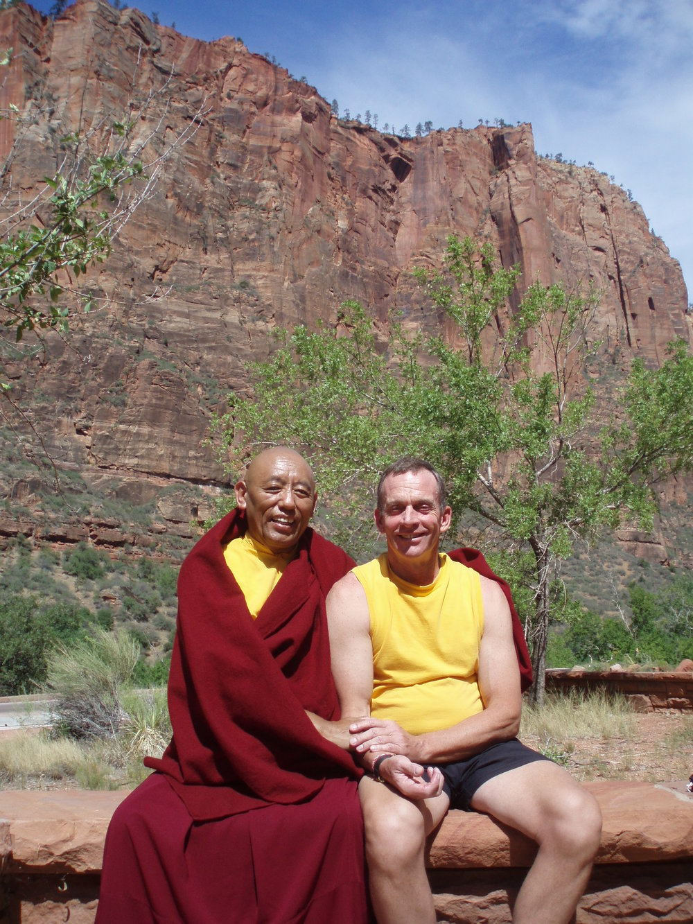 With Lama Samten  in Zion National Park, Utah