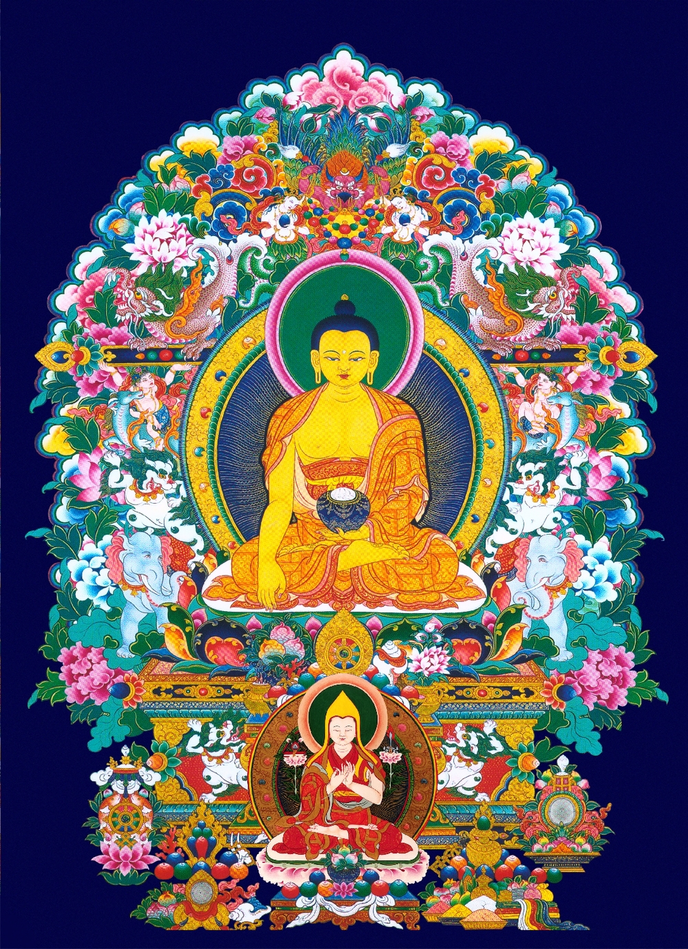 Buddha with Tsongkapa