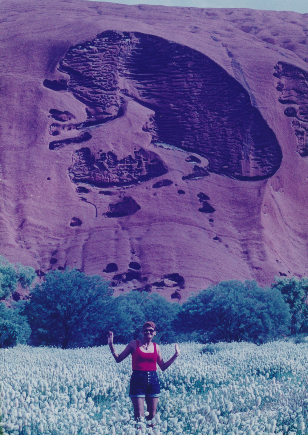 Laurel, the only Aboriginal runner, at Uluru National Park. I was fortunate to have her as part of my team. She was always warm and cheerful.