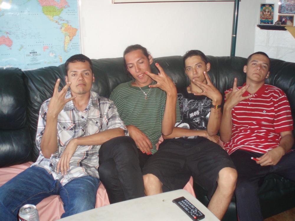 L-R Miguel, Cesar, Jesus & Manuel Sanchez