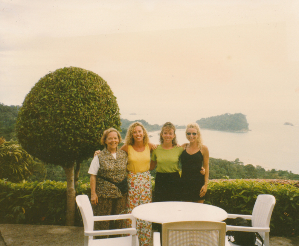 L-R My mom (God rest her soul), myself, my sisters Jacque & Chrissy in Costa Rica.