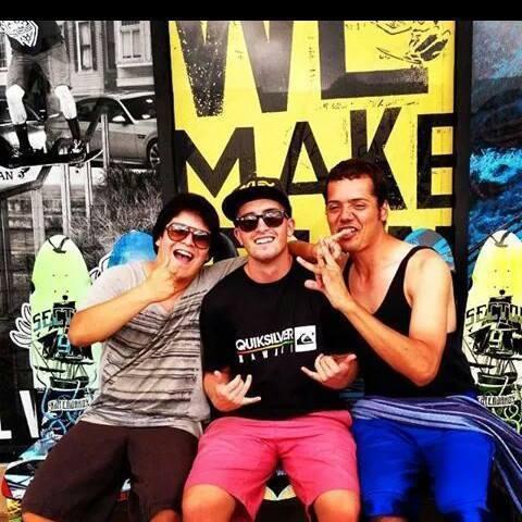 L-R George, Patrick & me
