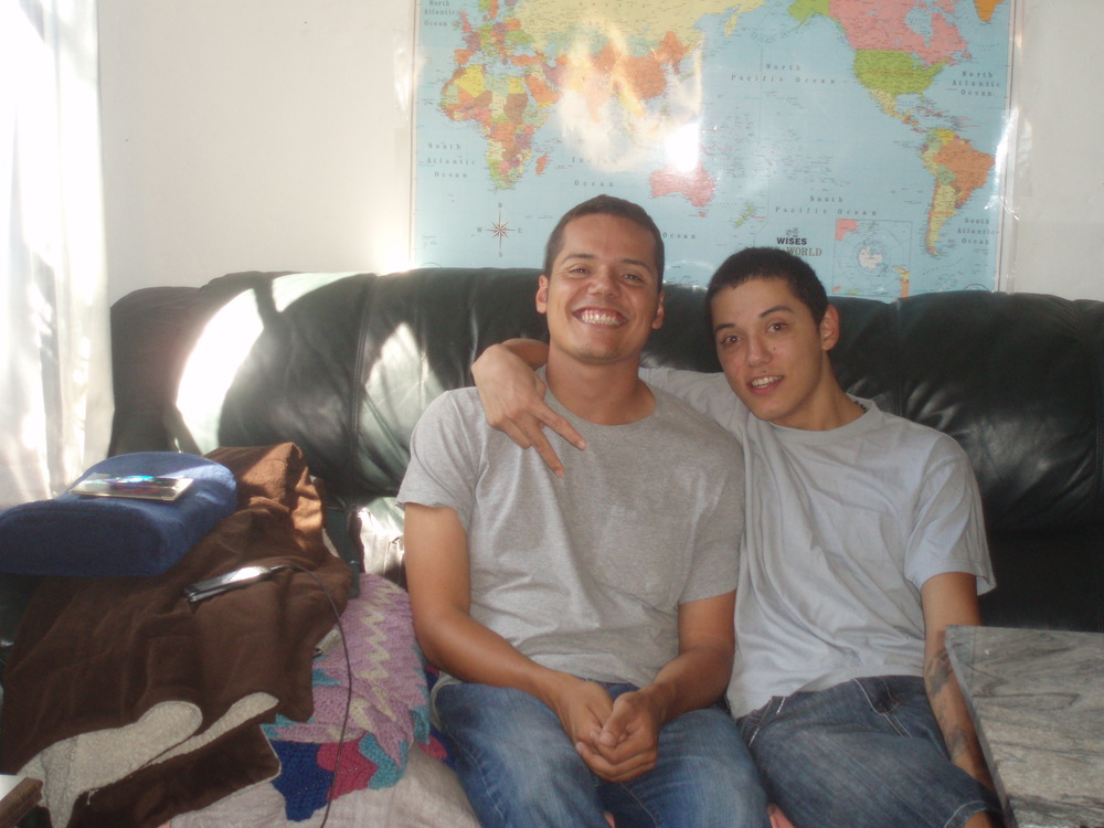 Jesus (R) with his brother Miguel. Photo taken 3 days ago