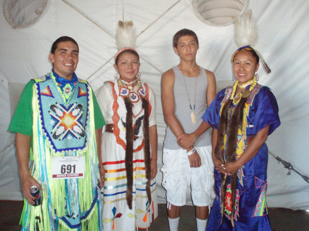 Jesus with Doug & Josette & family - Pow Wow at Morango - August 2012