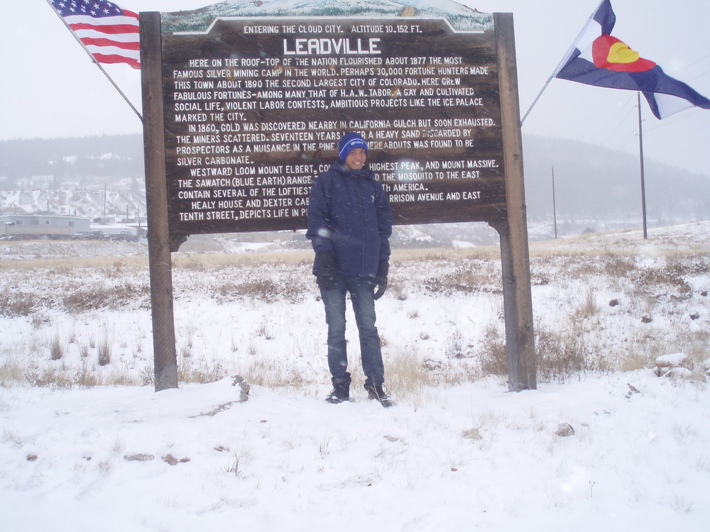 Jesus in Leadville, Colorado, elevation 10,000 ft.- November 2012