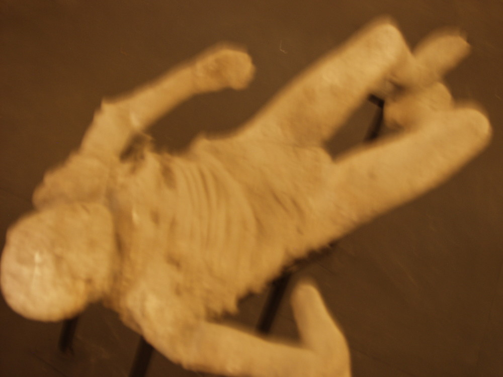 Body entombed by Lava, Pompeii