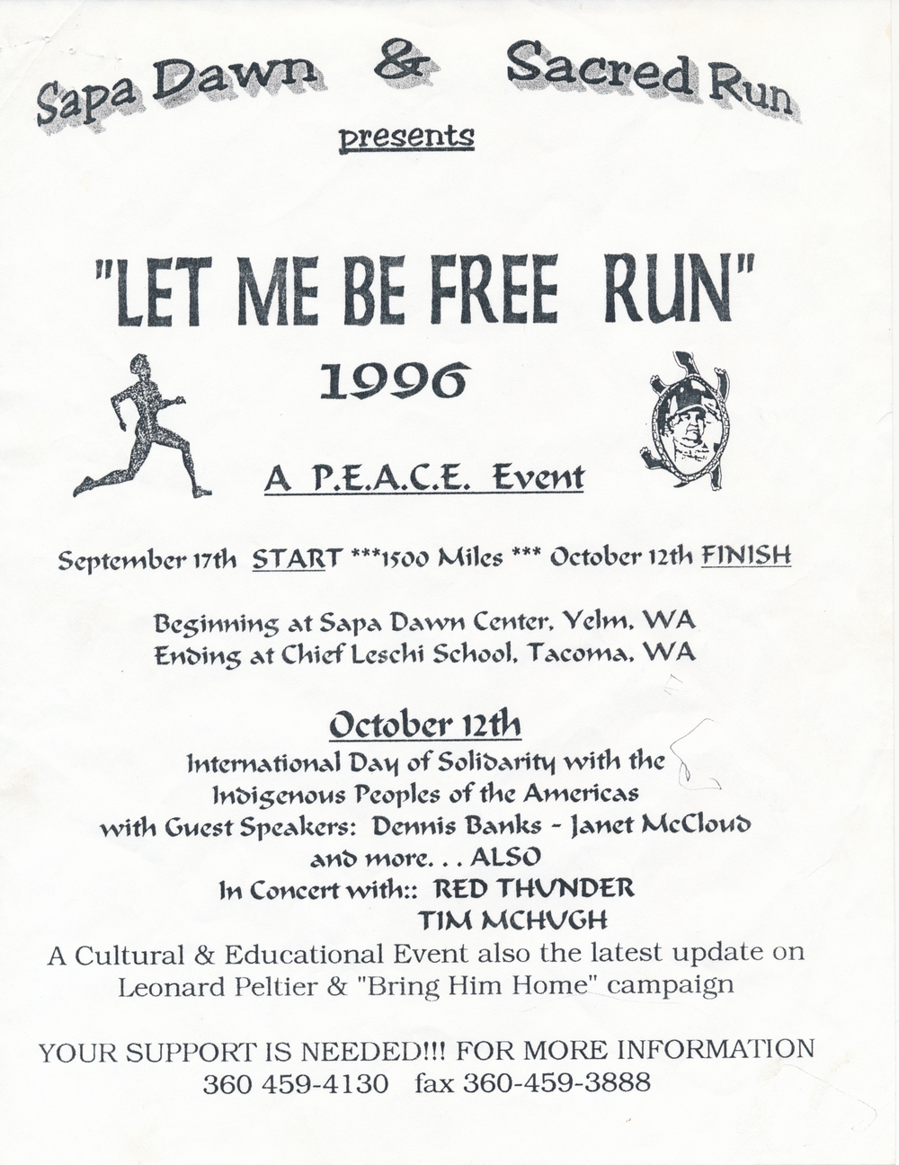 Original flyer for the Run