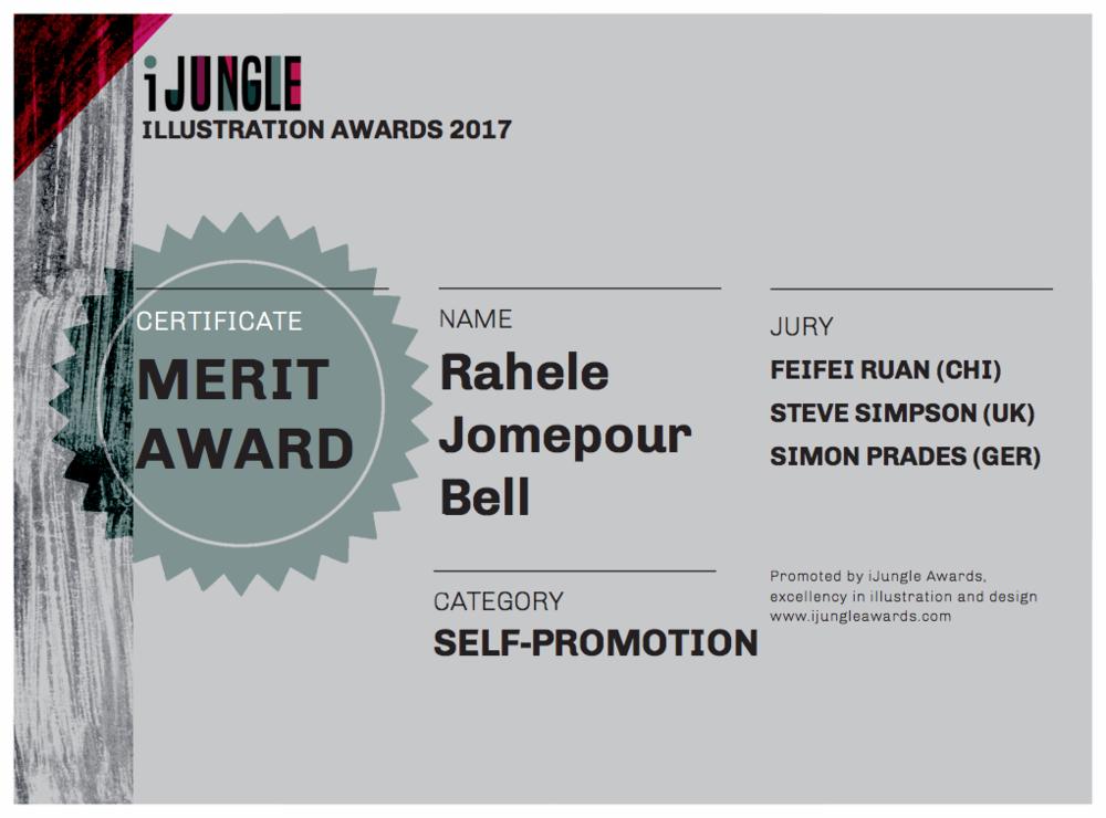 Received my MERIT AWARD CERTIFICATE :) #MERITAWARDCERTIFICATE#iJungleIllustrationAwards2017!