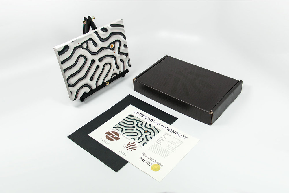 Ferrofluid canvas print retail package |Absolutely Interesting Collection by Linden Gledhill - Image 1