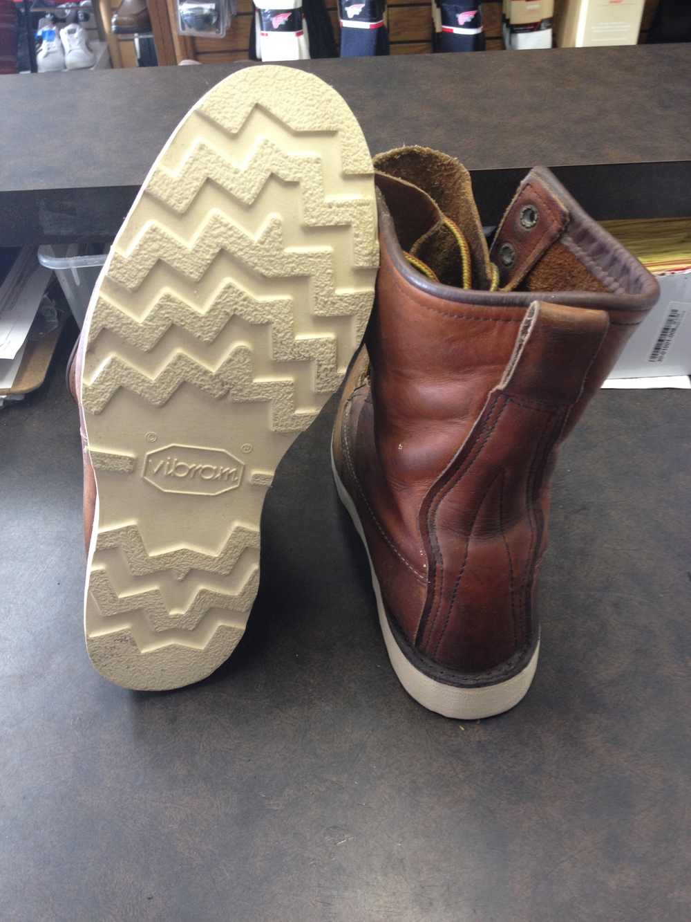 Pair of 10877 resoled, colored, conditioned, and relaced.