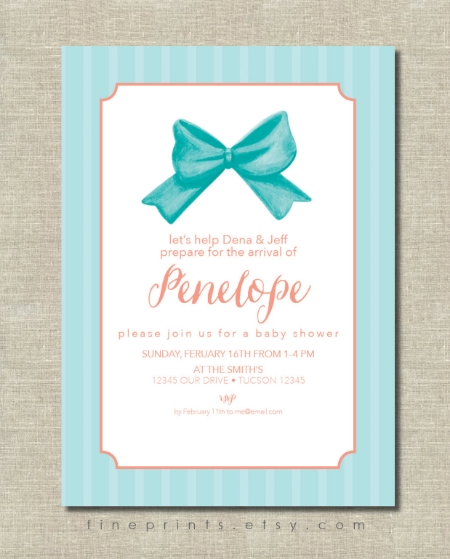 tiffany blue stripes and bow baby shower invitation for etsy.jpg