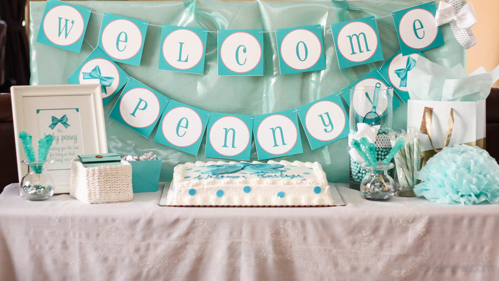 A Baby Shower In Tiffany Blue With Ribbons Bows Blog Work In Progress