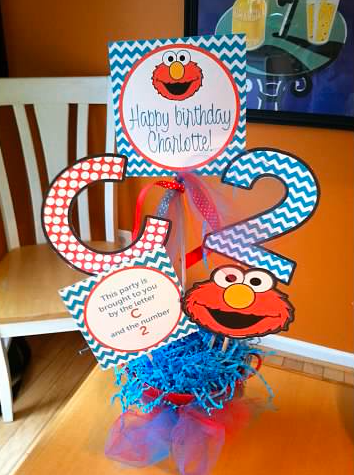 elmo chevron birthday party centerpiece.png