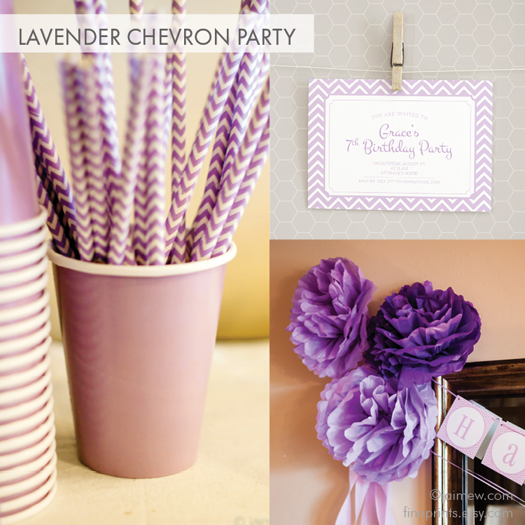 Lavender Chevron Birthday Party Ideas