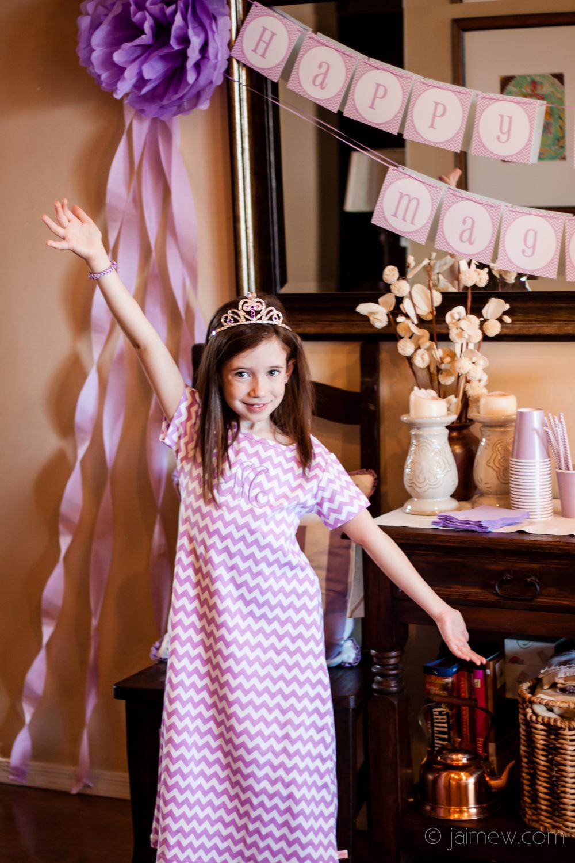 girls'  chevron maxi dress