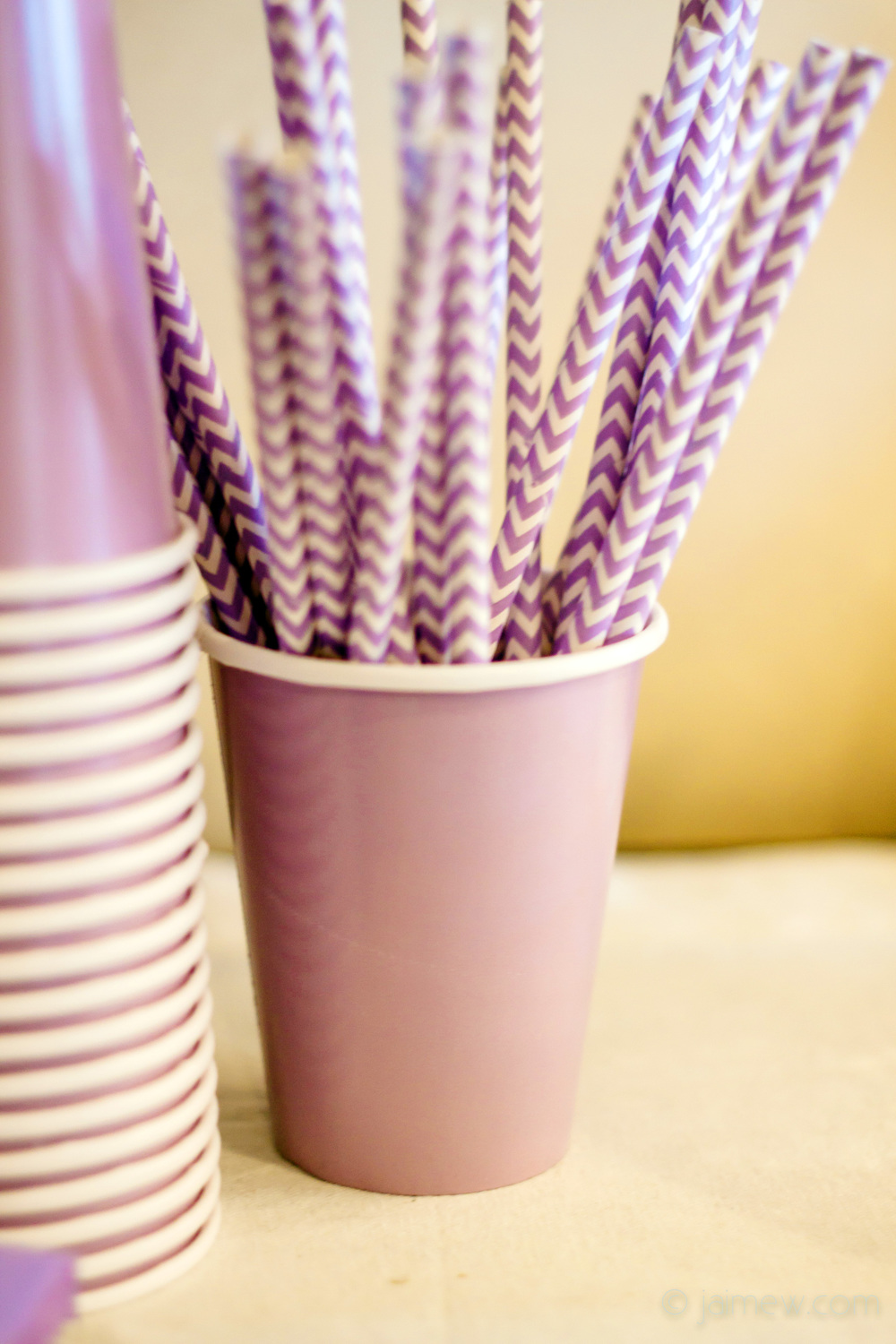 lavender chevron drinking straws for lavender chevron paper straws / birthday party decor