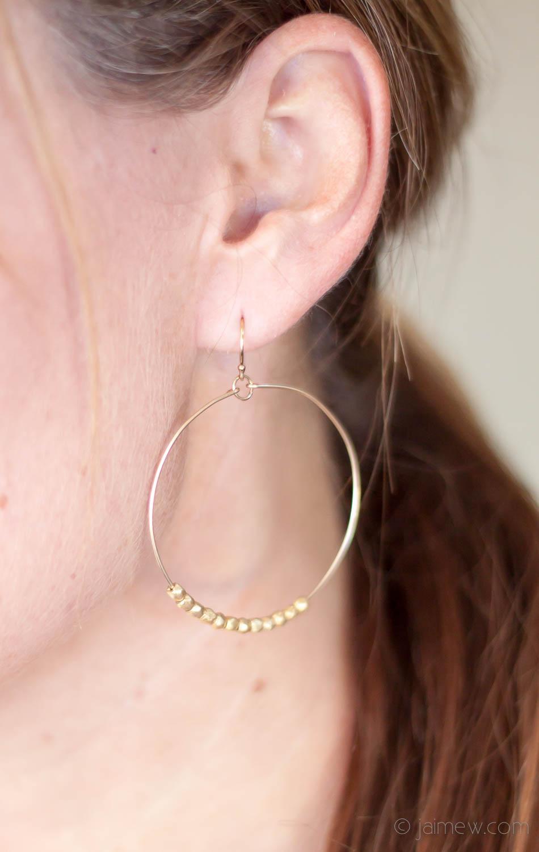 Stitch Fix Review / jill michael montgomery beaded hoop earrings