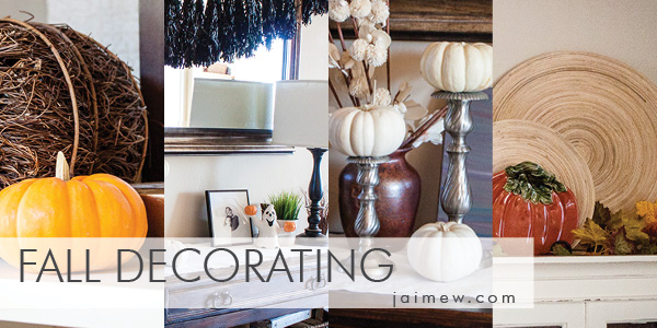 fall decorating ideas / halloween decorating ideas / white pumpkins