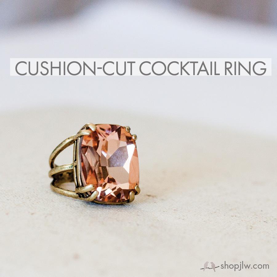cushion cut cocktail ring