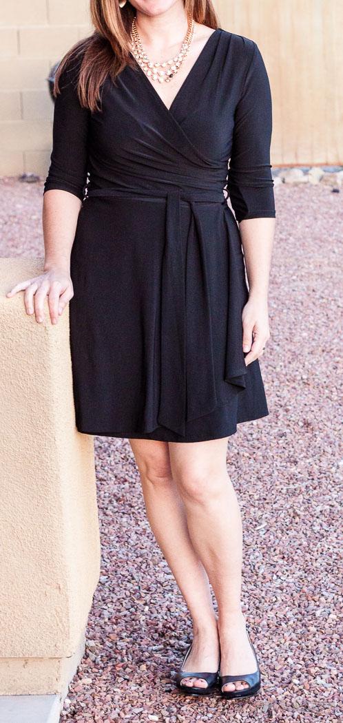 Rocco 3/4 Sleeve Faux Wrap Dress - Stitch Fix Review