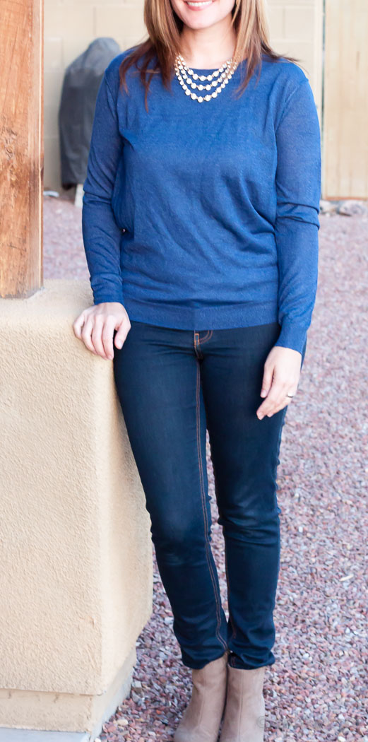 Skies are Blue Debby Metallic Detail Pullover Sweater - Stitch Fix Review
