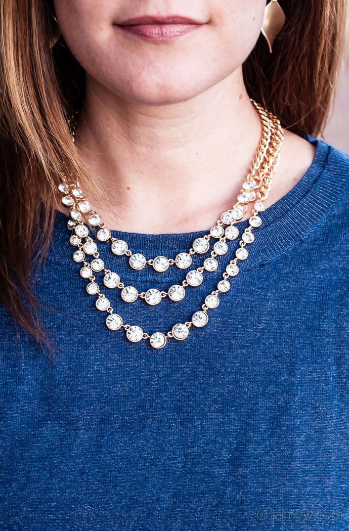 Pixley Isadora Crystal Gem Layered Necklace - Stitch Fix Review