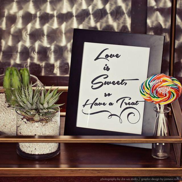 midcentury modern custom designed wedding invitations and sign