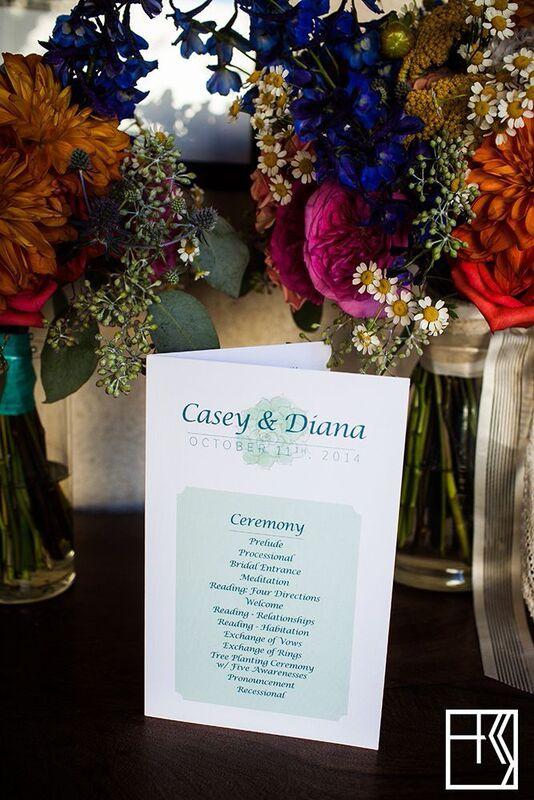 custom succulent wedding logo