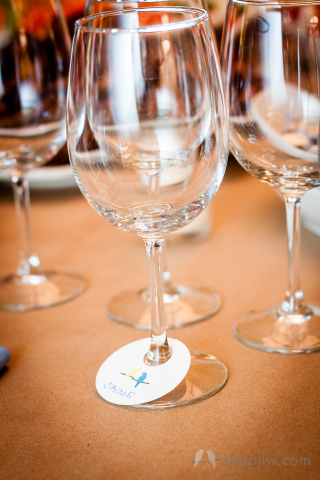 DIY wine glass tags