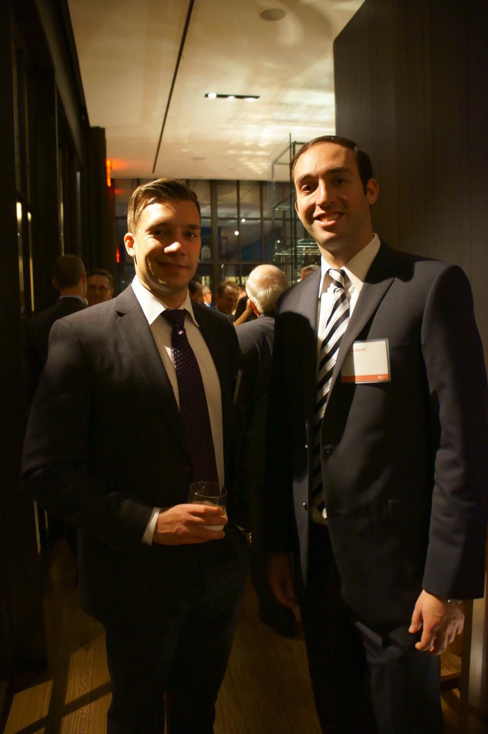Matt Ciavaglia and John Murphy, members of the Gravitas Business Development Team, at cocktail hour.